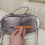 Женская сумочка Lazer White из стильной лазерной натуральной кожи, фото 7