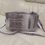 Женская сумочка Lazer White из стильной лазерной натуральной кожи, фото 8