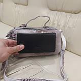 Женская сумочка Lazer White из стильной лазерной натуральной кожи, фото 9