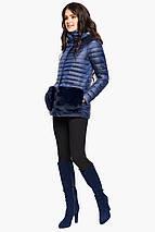 Сапфировая осенне-весенняя женская куртка модель 15115, фото 2