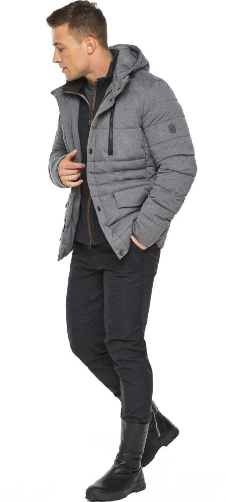 Попелястий куртка – воздуховик на блискавці чоловічий зимовий модель 15078