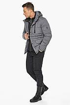Попелястий куртка – воздуховик на блискавці чоловічий зимовий модель 15078, фото 2