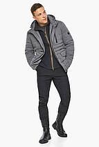 Попелястий куртка – воздуховик на блискавці чоловічий зимовий модель 15078, фото 3
