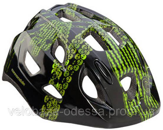 Шлем детский Cannondale QUICK SKULLS размер S 52-57см black-green, фото 2