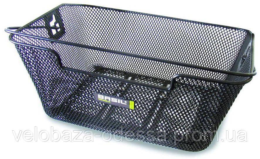 Корзина Basil CAPRI FLEX стальная сетка, ручка, для крепления к багажнику, черная