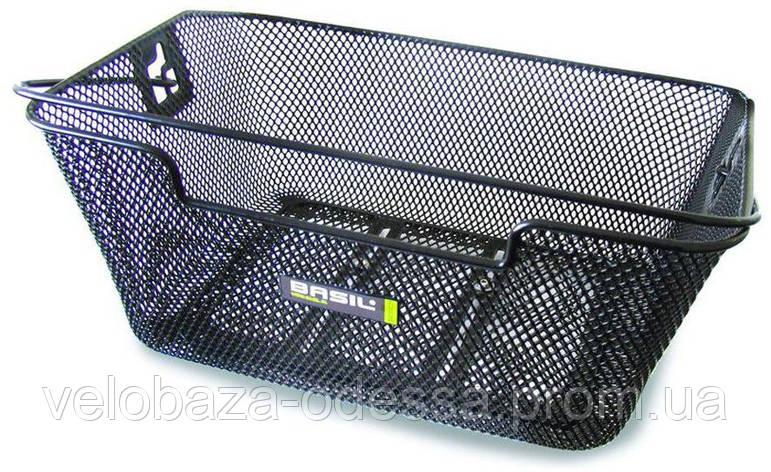 Корзина Basil CAPRI FLEX стальная сетка, ручка, для крепления к багажнику, черная, фото 2