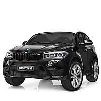 Детский электромобиль Джип BMW. Скорость 7-8 км/ч. Двухместное сиденье. Ремни безопасности. JJ2168EBLR-2