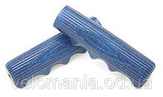 Грипсы Electra Classic Finger Groove 2 long blue/silver sparkle, фото 2