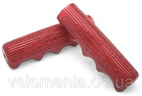 Грипсы Electra Classic Finger Groove 2 long red/silver sparkle, фото 2