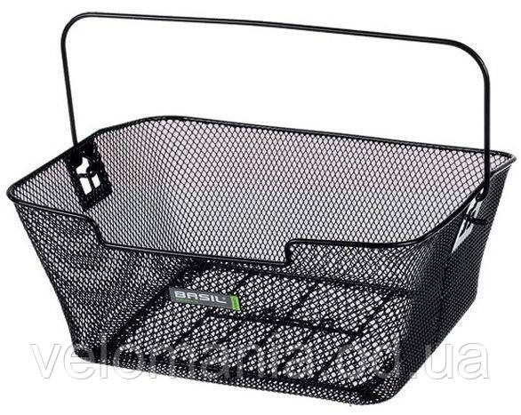 Корзина задн. Basil CAPRI стальная сетка,с ручкой, для установки на багажник, черная