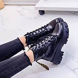 ТІЛЬКИ 36 р 23,5 см!!! Жіночі черевики ДЕМІ чорні на шнурівці еко шкіра весна осінь, фото 8