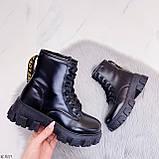 ТІЛЬКИ 36 р 23,5 см!!! Жіночі черевики ДЕМІ чорні на шнурівці еко шкіра весна осінь, фото 4