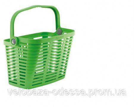 Корзина Bellelli Plaza Verde Giallastro с креплением на руль, пластиковая, зелёная, фото 2