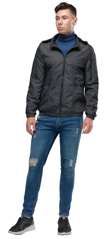 Осінньо-весняна темно-сіра чоловіча молодіжна вітровка модель 38399 розмір 46 (S)