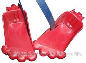 Подножки для переднего велокресла Bellelli, пара, красные