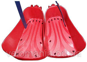 Подножка Bellelli Regolabili Rosso DX+SX к сидению, пластик, красная