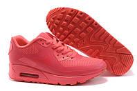 Кроссовки женские  Nike Air Max 90 Hyperfuse (в стиле найк аир макс) коралловые