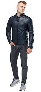 Темно-синя чоловіча молодіжна непромокаємий куртка осінньо-весняна модель 43663 розмір 50 (L)