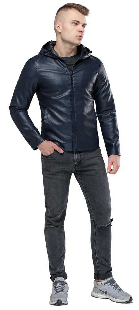 Коротка темно-синя куртка осінньо-весняна молодіжна модель 15353 розмір 50 (L)