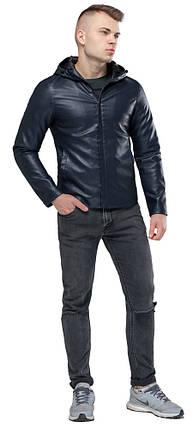 Коротка темно-синя куртка осінньо-весняна молодіжна модель 15353 розмір 50 (L), фото 2