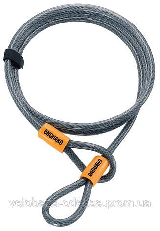 Трос Onguard AKITA Wire 120см х 10мм на петлях с виниловым покрытием, стальной, фото 2