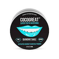 Зубной порошок Cocogreat для отбеливания зубов кокосовым углем 30 г ALMA-30-150542