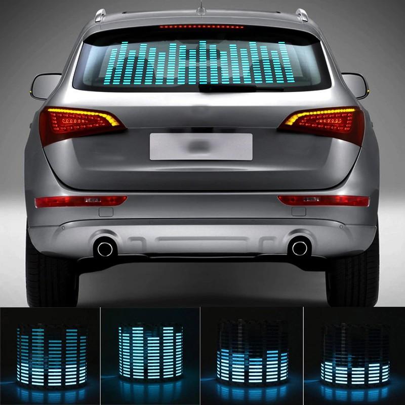 Эквалайзер на стекло авто Синий
