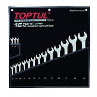 """Набор ключей комбинированных 16 шт. 7-32  """"Hi-Performance"""" TOPTUL GPAX1601, фото 1"""