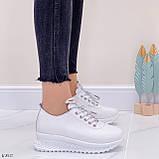 ТОЛЬКО 39 р! Кроссовки женские белые натуральная кожа весна/ осень, фото 9