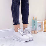 ТОЛЬКО 39 р! Кроссовки женские белые натуральная кожа весна/ осень, фото 7