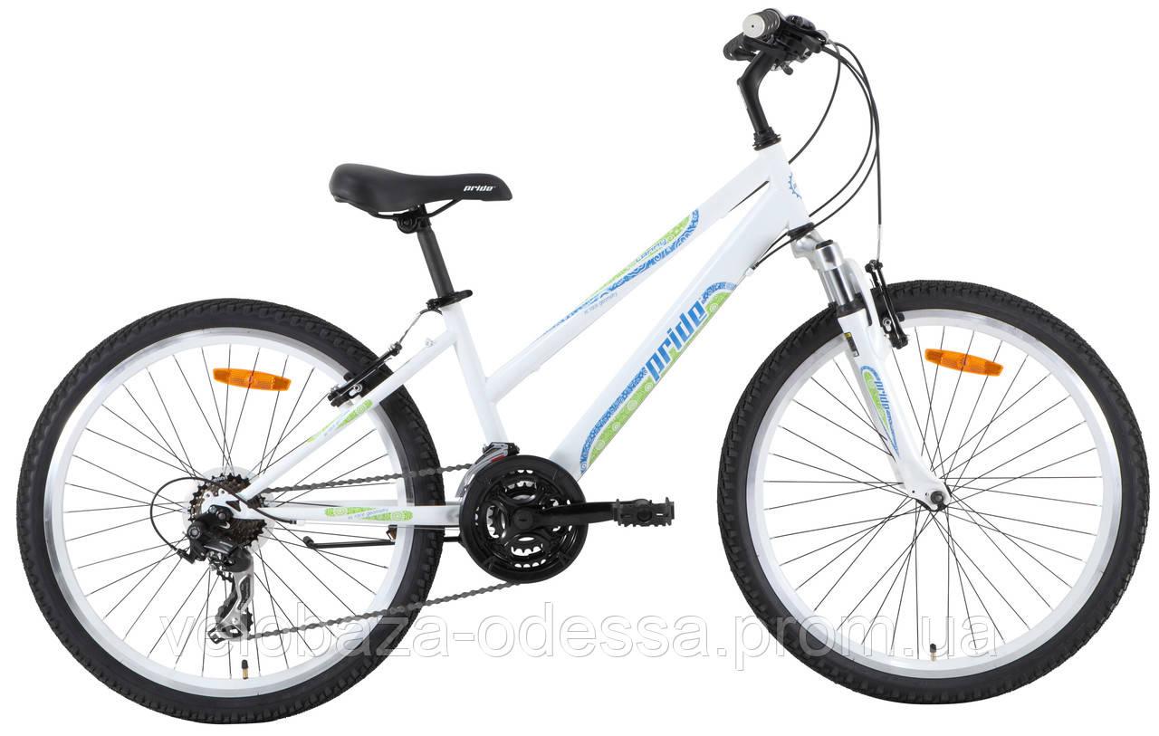 """Велосипед 24"""" Pride LANNY бело-зеленый 2013"""