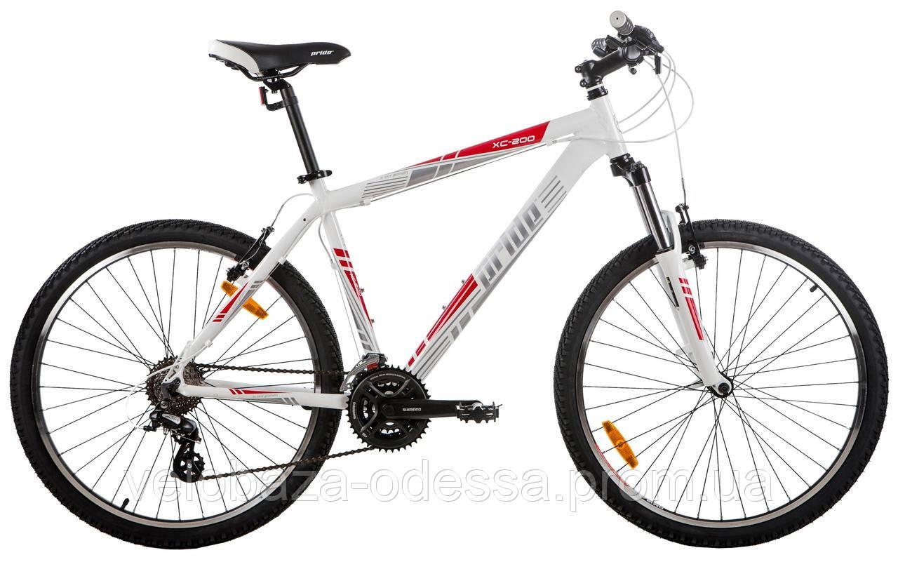 "Велосипед 26"" Pride XC-200 рама - 17"" бело-красный 2013"