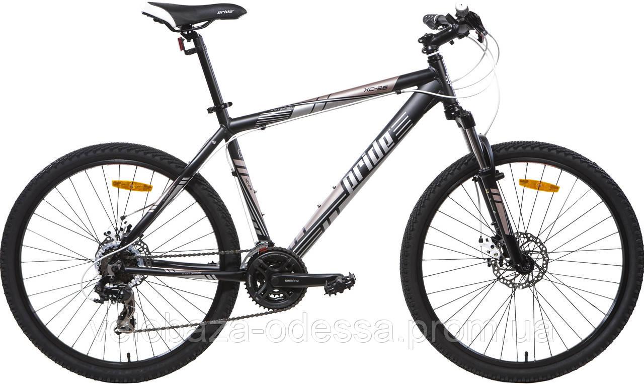 "Велосипед 26"" Pride XC-26 MD рама - 17"" черн. (диск механ) 2013"
