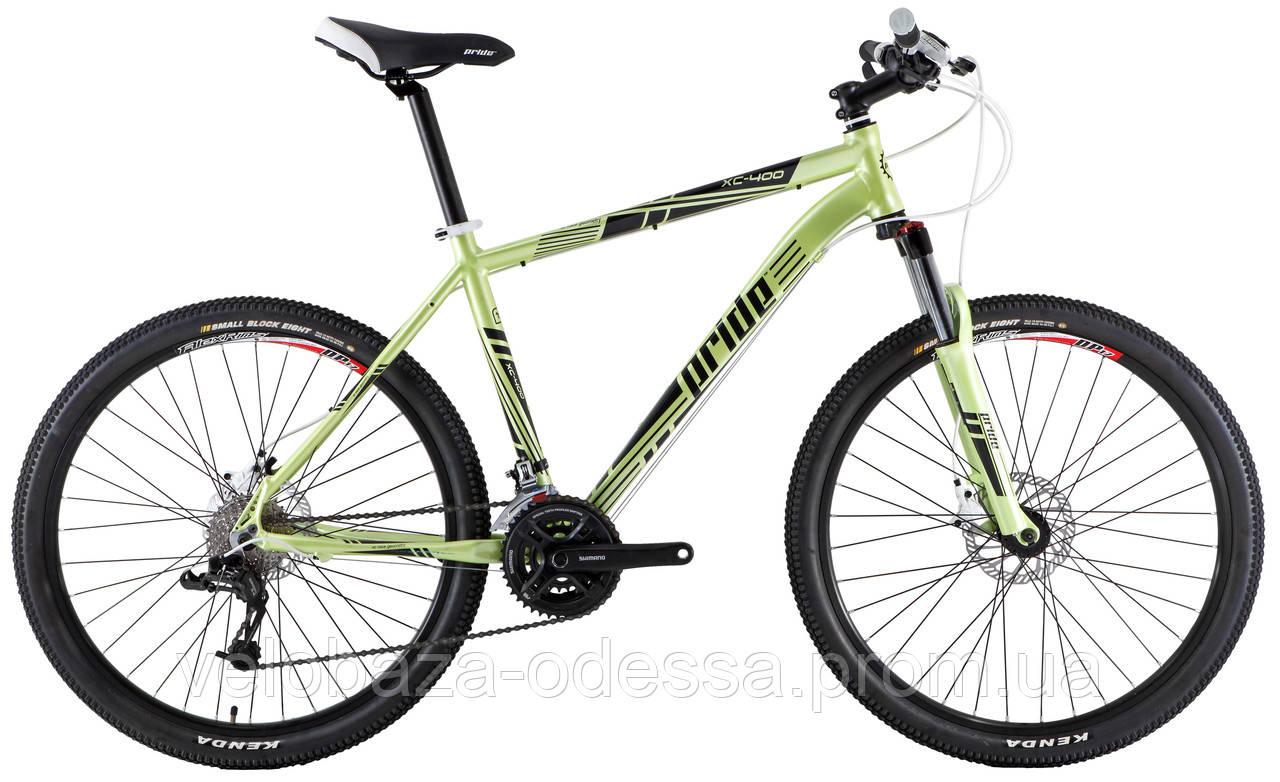 """Велосипед 26"""" Pride XC-400 рама - 19"""" зелен. (диск гидравл) 2013"""