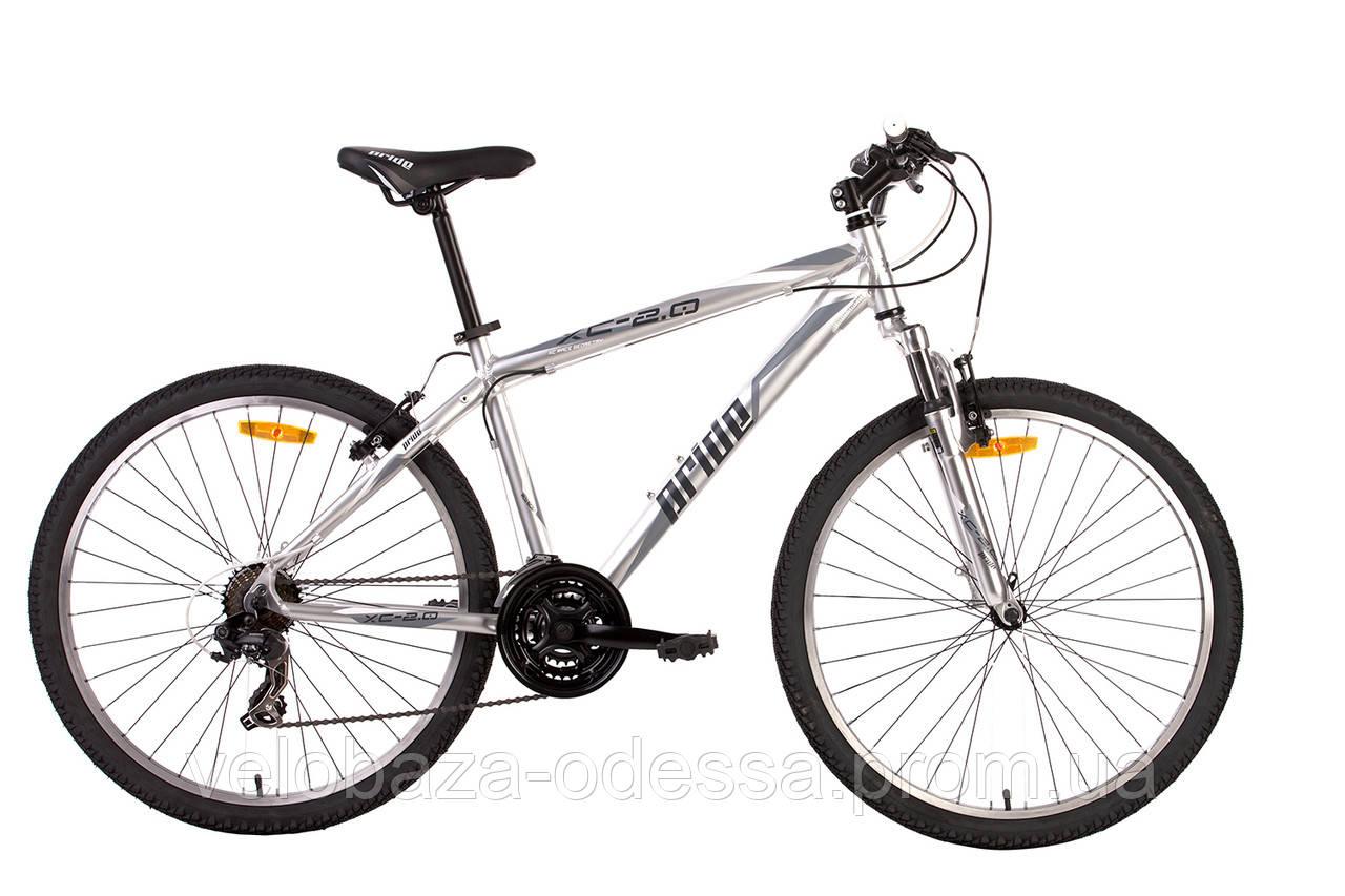 """Велосипед 26"""" Pride XC-2.0 рама - 19"""" matt silver 2014"""