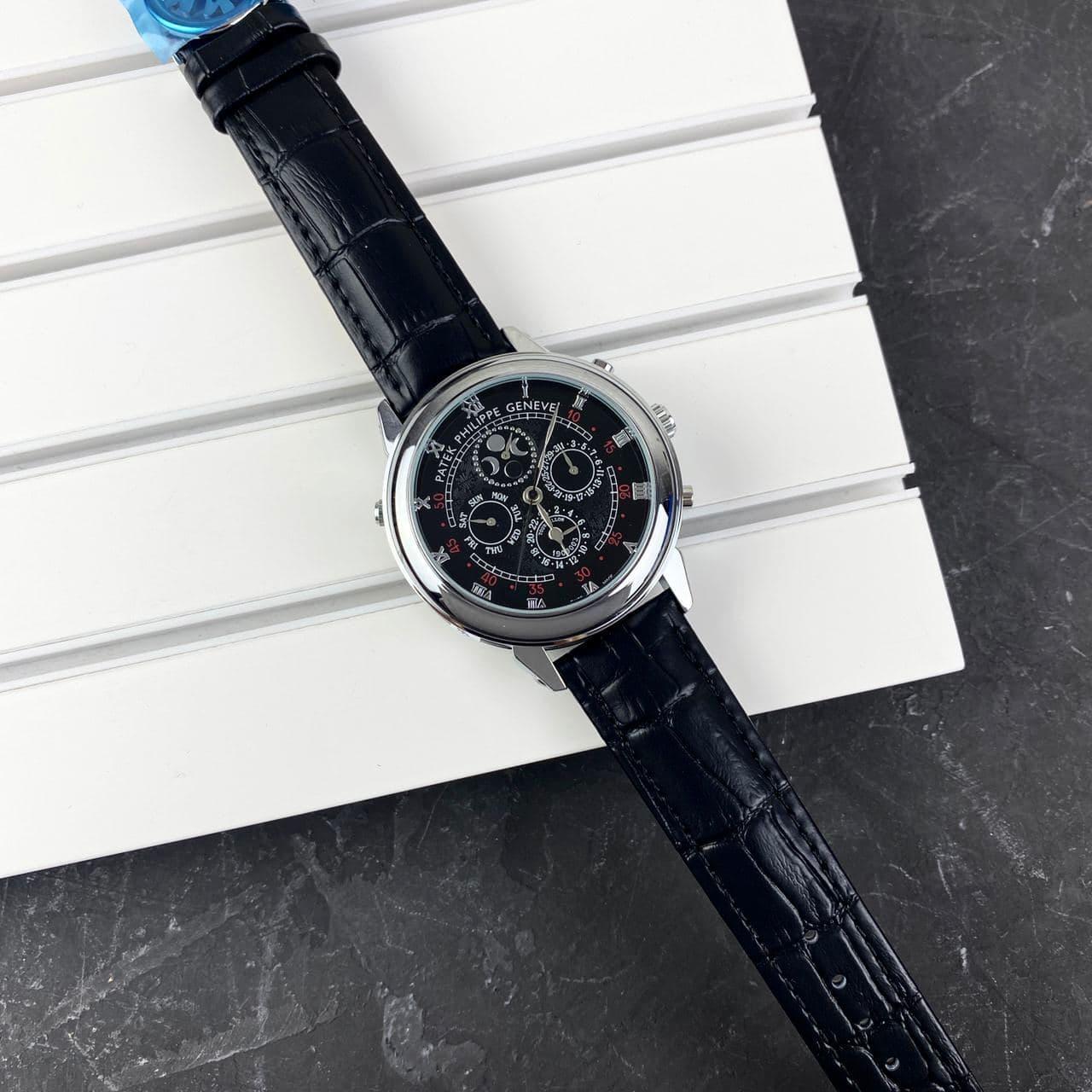 Мужские наручные часы Patek Philippe Grand Complications 5002 Sky Moon Black-Silver-Black New