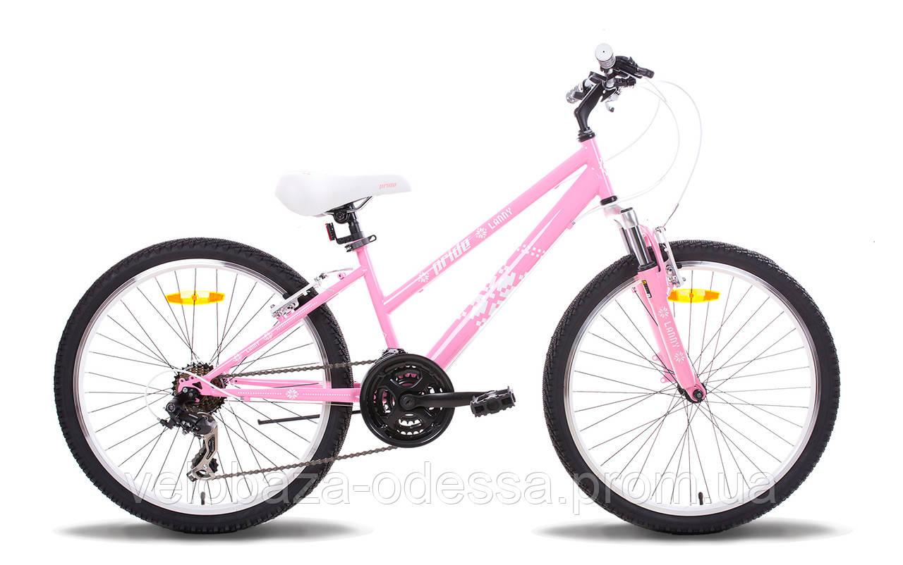 """Велосипед 24"""" Pride LANNY розово-белый 2014"""