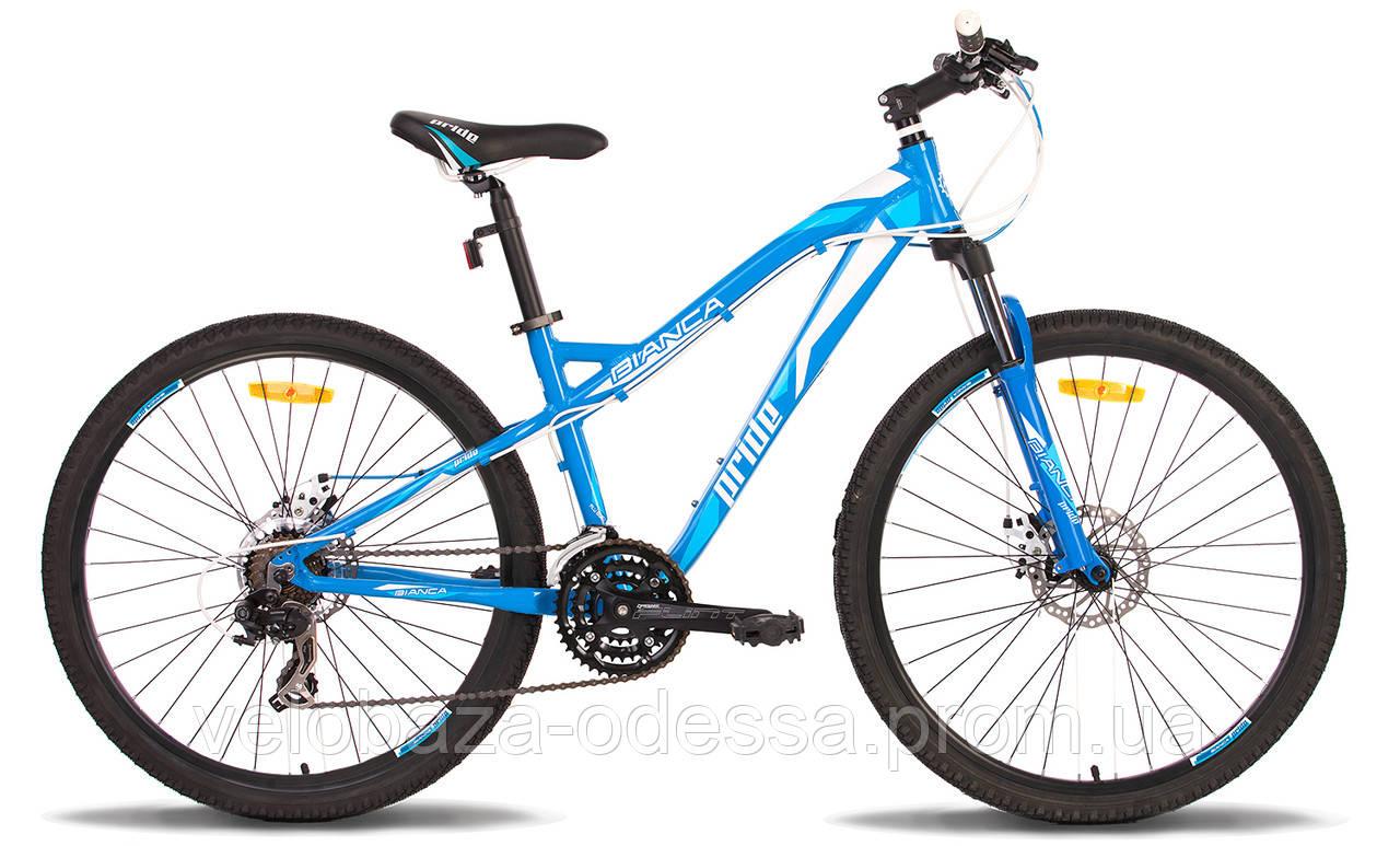"""Велосипед 26"""" Pride BIANCA disc рама - 16"""" сине-белый 2014"""