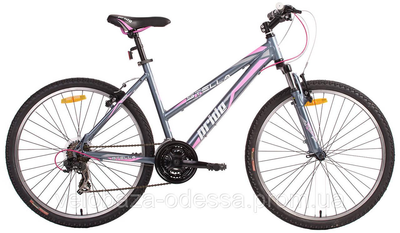 "Велосипед 26"" Pride STELLA рама - 16"" серо-розовый 2014"