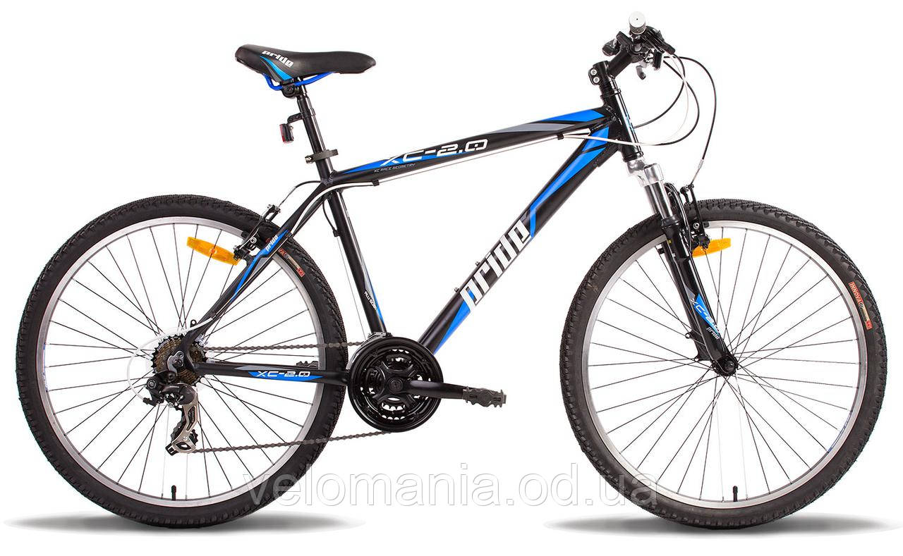 "Велосипед 26"" Pride XC-2.0 рама - 17"" черно-синий матовый 2014"