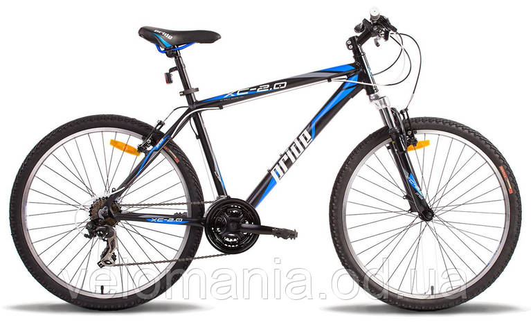 "Велосипед 26"" Pride XC-2.0 рама - 17"" черно-синий матовый 2014, фото 2"