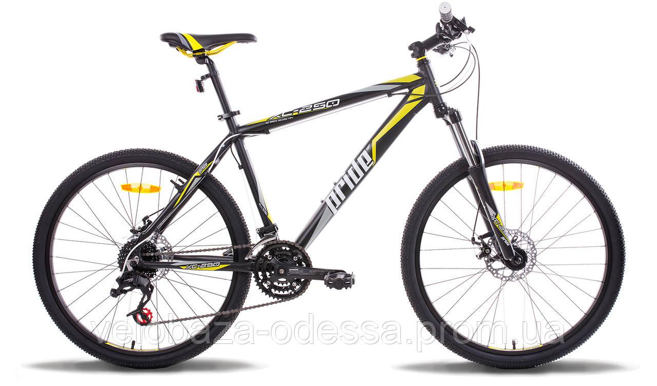 """Велосипед 26"""" Pride XC-250 рама - 17"""" черно-желтый матовый 2014"""