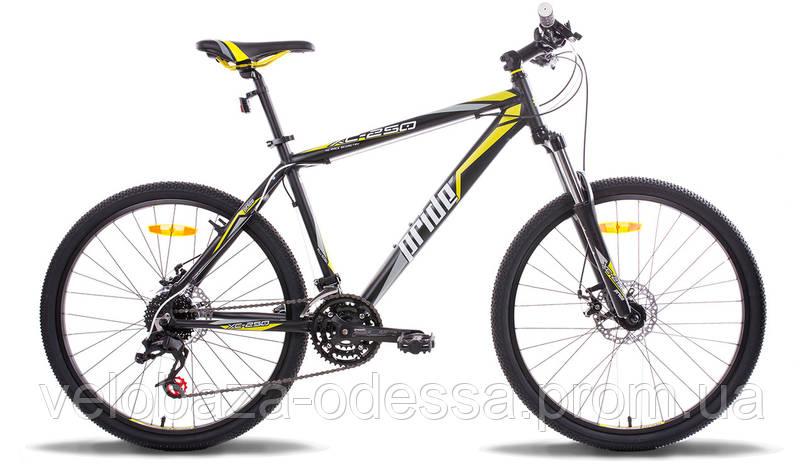 """Велосипед 26"""" Pride XC-250 рама - 17"""" черно-желтый матовый 2014, фото 2"""