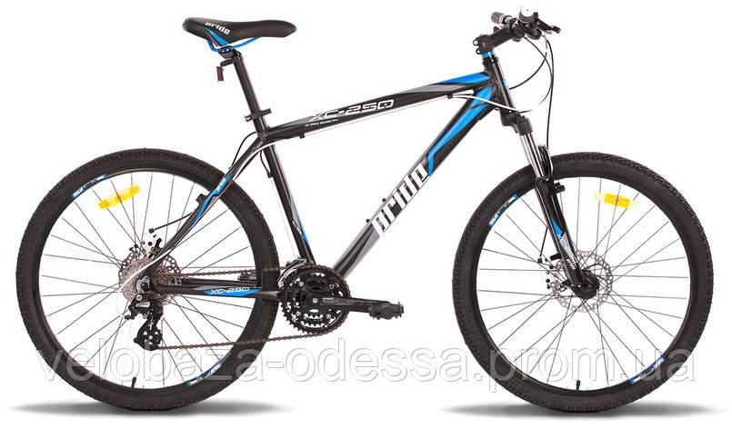 "Велосипед 26"" Pride XC-250 рама - 19"" черно-синий матовый 2014, фото 2"