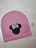 Шапка для дівчинки Демі Мікі з бантиком Розмір 52-54 см Вік 5-10 років, фото 8