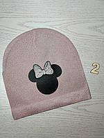 Шапка для дівчинки Демі Мікі з бантиком Розмір 52-54 см Вік 5-10 років, фото 5