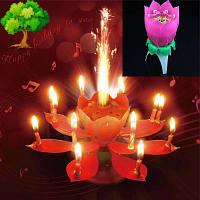 Свеча для торта Flover музыкальная, вращающаяся 14см
