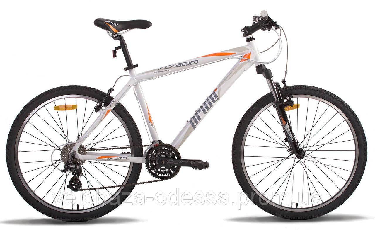 """Велосипед 26"""" Pride XC-300 рама - 19"""" бело-оранжевый 2014"""