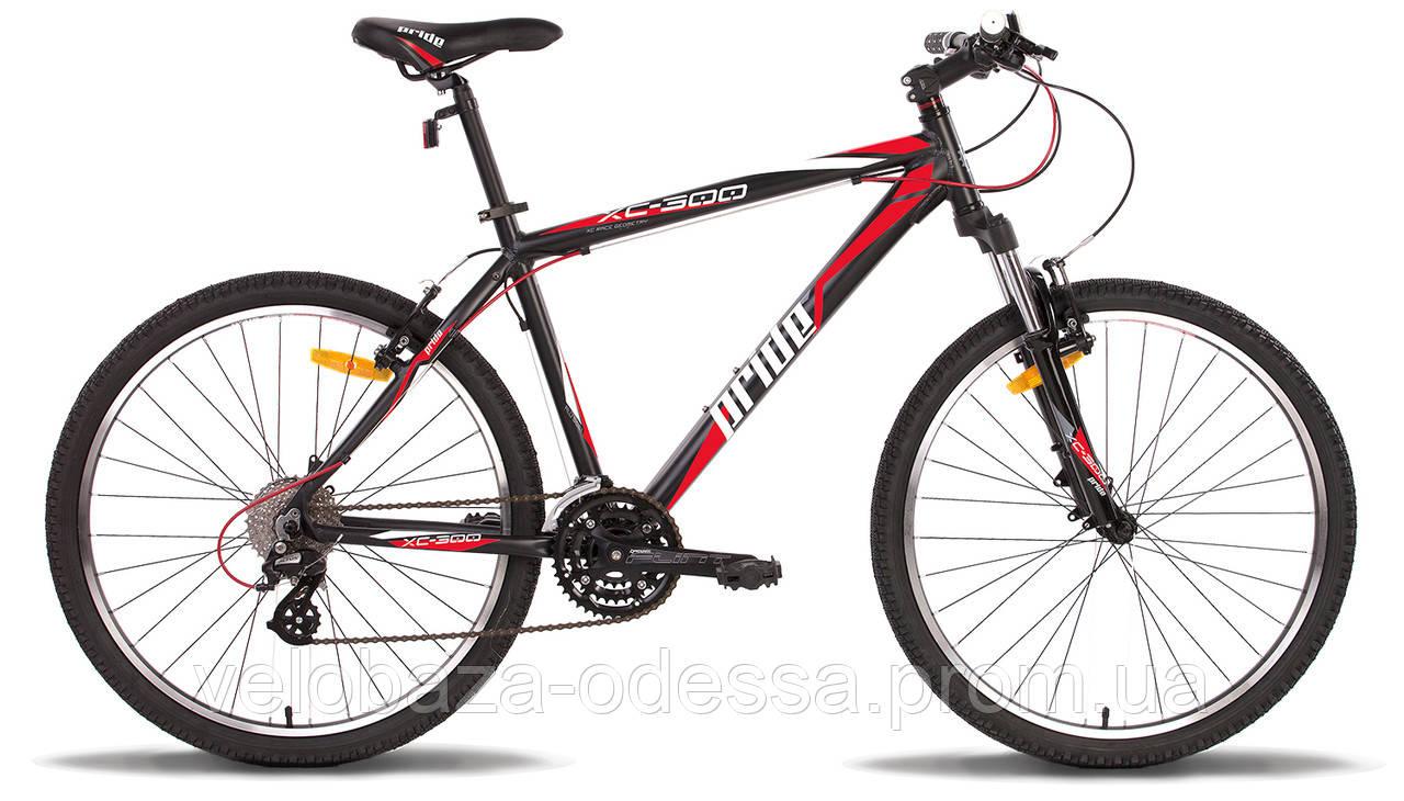 """Велосипед 26"""" Pride XC-300 рама - 21"""" черно-красный матовый 2014"""
