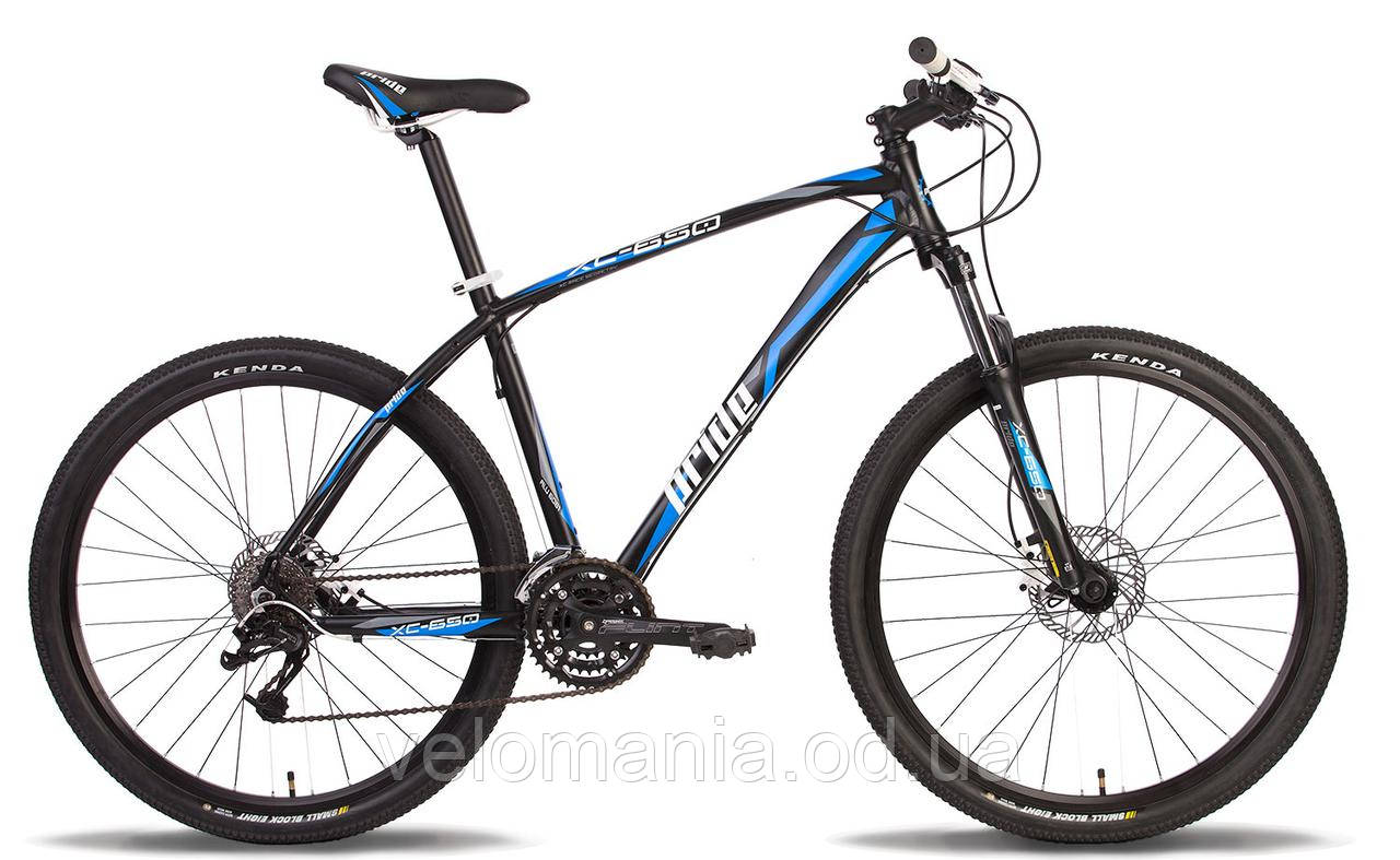 "Велосипед 27,5"" Pride XC-650 HD рама - 17"" черно-синий матовый 2014"
